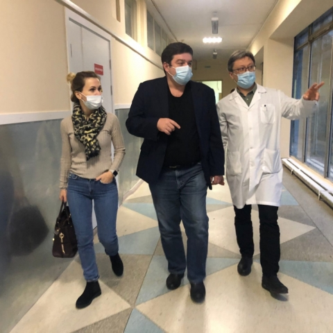 Обнинскую больницу посетил главный невролог Москвы
