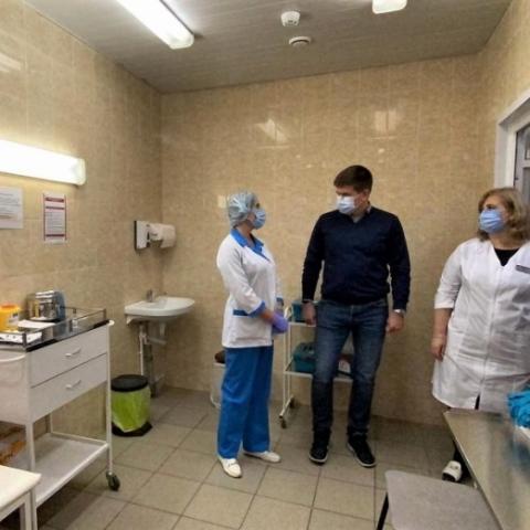Глава Орехово-Зуевского округа проверил готовность пункта вакцинации от COVID-19