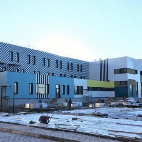 Возведение пристройки к школе № 16 в Орехово-Зуеве завершено уже на 85 процентов
