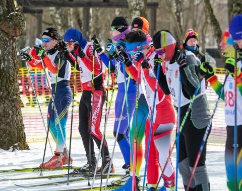 Первенство по лыжным гонкам провели в Коломне