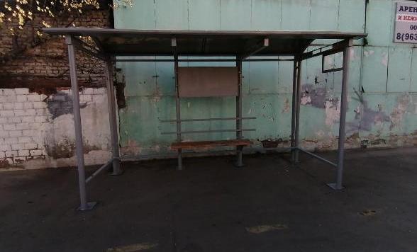 Повреждённую остановку в Серпухове заменили