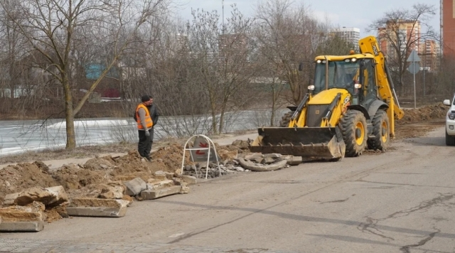 Улицу Белкинскую начали ремонтировать