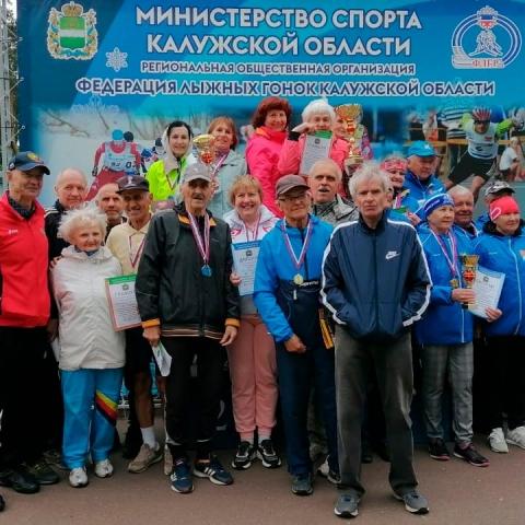 Команда из Обнинска заняла 2 место на весенней Спартакиаде пенсионеров в Калуге