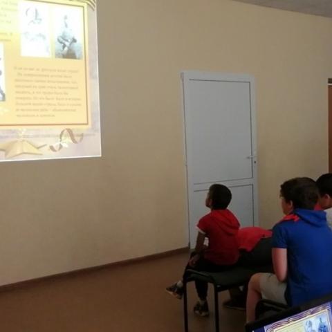 Патриотическую программу «Маленькие герои большой войны» провели сотрудники Егорьевской Центральной библиотеки
